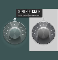 Volume control knobs ui element for vector