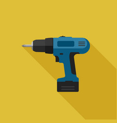 Electric screwdriver flat icon vector