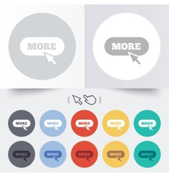 More with cursor pointer icon details symbol vector