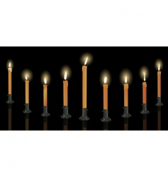 Hanukkah candles vector