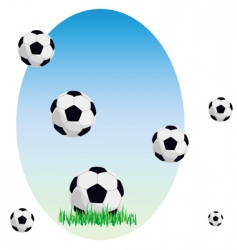 Balls on a grass vector