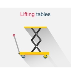 Lifting tables icon design style vector