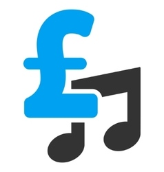 Music pound price flat icon symbol vector
