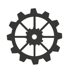 Gear machine style isolated icon design vector