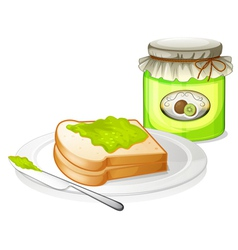 A sandwich with a jam vector image