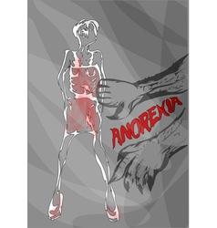 anorexia nutrition disorder concept vector image