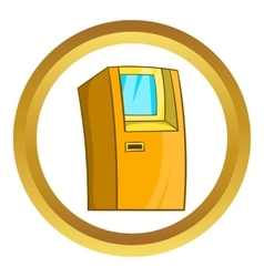 Atm bank cash machine icon vector