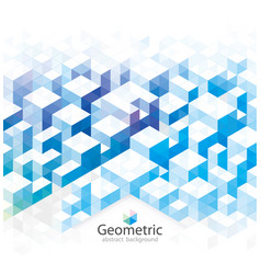 blue geometric vector image