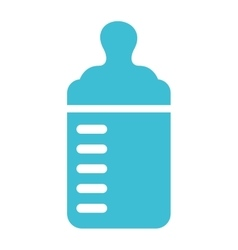 bottle milk baby icon vector image
