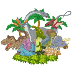 Cartoon animal dinosaur vector