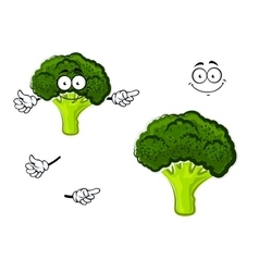 Cartoon broccoli vegetable with green head vector image vector image