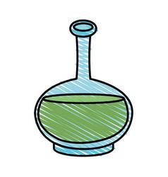 Color crayon stripe cartoon transparent bottle vector