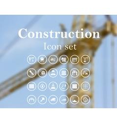 Construction icon set vector