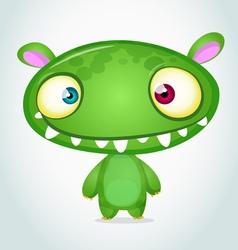 Cute cartoon monster alien vector