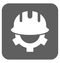 Development helmet flat squared icon vector