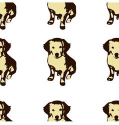 Dog puppie Golden retriever seamless pattern vector image