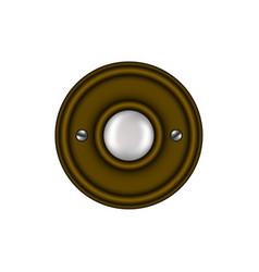 doorbell in vintage design vector image