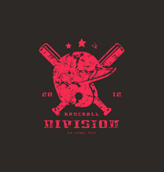 emblem of baseball team vector image vector image
