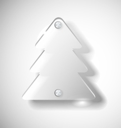 Glass Christmas tree vector image