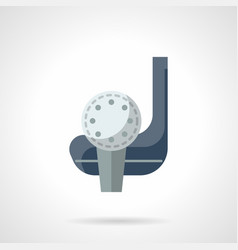 golf skill flat color icon vector image