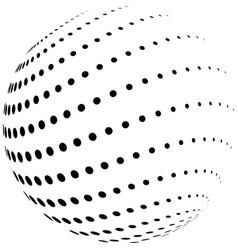 Halftone globe vector