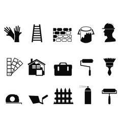 house painting icons set vector image vector image