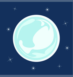 ice ball snowflake vector image vector image