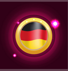 made in germany banner flag color label vector image