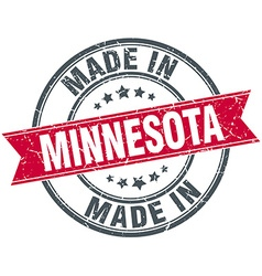 Made in minnesota red round vintage stamp vector