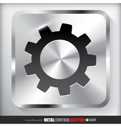 Metal settings button vector