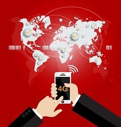 Modern communication technology mobile phone vector image
