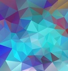 Neon blue polygon triangular pattern background vector