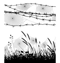 Orb spider webs vector