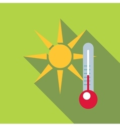 Outdoor thermometer icon flat style vector