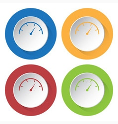 Set of four icons - dial symbol vector