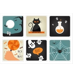 Set of Halloween Concepts vector image