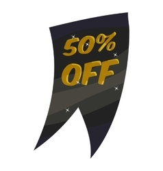 Tag fifty percent discount icon cartoon style vector