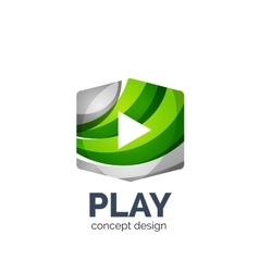 video play logo template vector image vector image