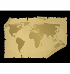 vintage world map vector image vector image