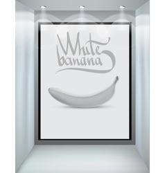 white banana vector image vector image