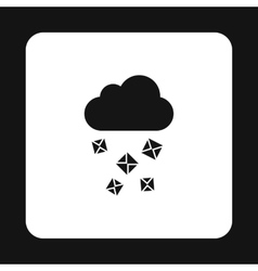 Cloud and hail icon simple style vector