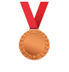 Bronze medal isolated on white vector