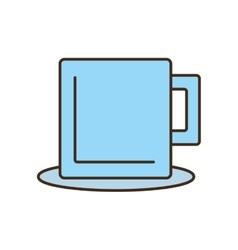 mug beverage hot capuccino tea plate vector image