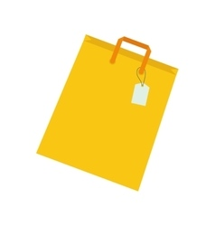 Isolated shopping bag vector