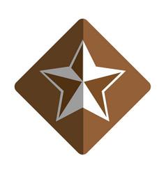 sherif medal emblem icon vector image