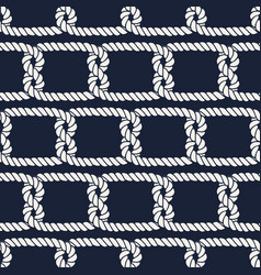 Seamless nautical rope pattern half knots vector