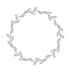 round flourish vintage decorative whorls frame vector image
