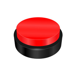 Warning sign button vector