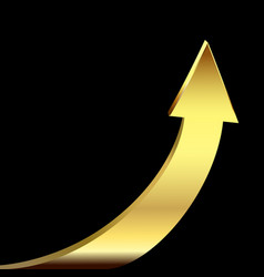 Gold arrow as symbol business success vector