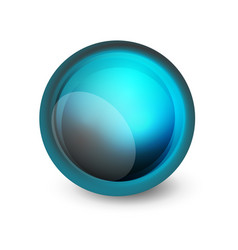 glass sphere futuristic abstract element vector image